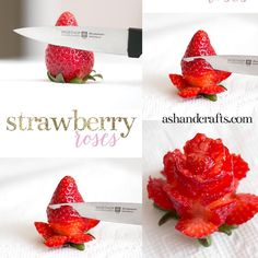 Finger Food Appetizers, Appetizers For Party, Finger Foods, Fruit Salad Recipes, Fruit Salads, Strawberry Roses, Food Art, Berries, Food And Drink