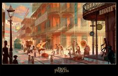 The Princess and the Frog (2009) Production Design by James Aaron Finch - Concept Art by Armand Baltazar