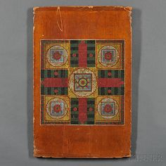 Polychrome Paint-decorated Two-sided Gameboard | Sale Number 2753T, Lot Number 1186 | Skinner Auctioneers