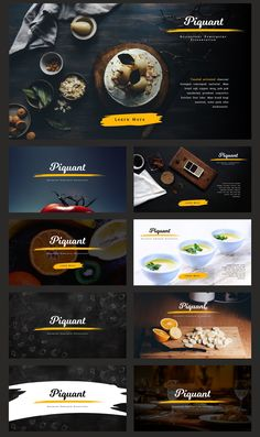Piquant Powerpoint Template by Thrivisualy on Coperate Design, Slide Design, Page Design, Layout Design, Graphic Design, Design Presentation, Presentation Templates, Presentation Folder, Template Power Point