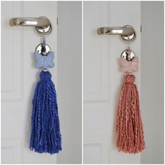 How To Make Tassels, Curtain Ties, Art N Craft, Diy Curtains, Shabby Chic Cottage, Key Fobs, Crochet Flowers, Simple Designs, Diy And Crafts