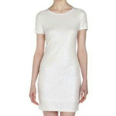 Michael Kors white sequin dress White sequined Michael Kors dress in perfect condition. No flaws. Size xs. Feel free to make an offer! MICHAEL Michael Kors Dresses Mini