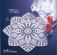 Schemes of knitting napkins.