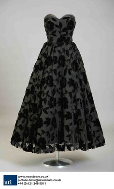 Christian Dior dress worn by a debutantes mother during the 1958 Season. The dress is displayed at Kensington Palace, London