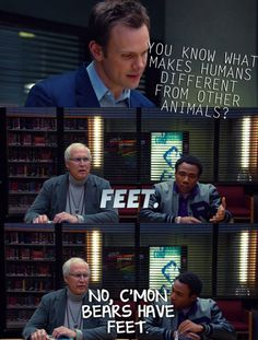 """No, c'mon bears have feet."""