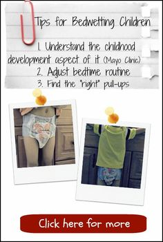 Does your child struggle with #bedwetting?  3 #Tips for you... click here> http://www.thesaturdayeveningpot.com/2013/07/tips-for-bedwetting-children.html #kids #parenting