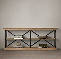 """Parisian Cornice Console. my sofa console! wish i'd seen this size before photoshopping the tall one down :P would have made the plans easier! Dimensions 60""""W x 20""""D x 34""""H"""
