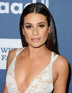 Lea Michele was dazzling at the GLAAD awards where she mastered some of the biggest beauty trends of the season including poker straight hair and pale pink lips, and dramatic eyelashes.