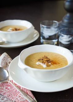 Toasted Almond Butternut Squash Soup