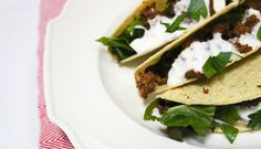 Make this: A new (healthier) take on tacos. Under 200 calories per serving!