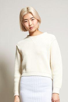 Les Valentines Boule Sweater in Cream