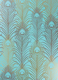 Peacock wallpaper from Osborne & Little