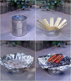 Make an Easy Working Grill Out of a Tin Can