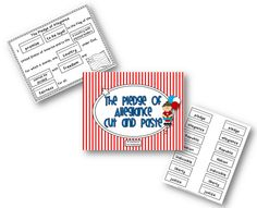 Teaching With Love and Laughter: American Flag Cut and Paste Freebie!