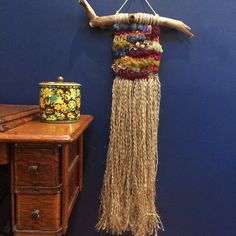 Autumn Woven Wall Hanging with Long Fringe Fall Woven by fishwarp