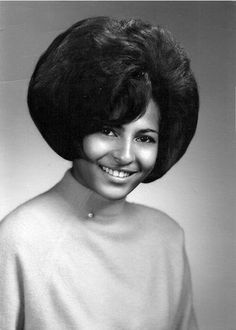 Pam Grier's Senior High School Photo.  I think my sister used to wear her hair like this.
