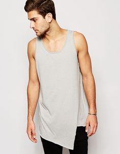 ASOS Super Longline Vest With Asymmetric Hem