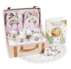 Beatrix Potter Tea Set & Treasury Book