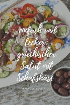 Greek salad with feta cheese - Lecker - Salat Feta Salat, 50th Party, Snacks Für Party, Greek Salad, Health Snacks, Burger Recipes, Catering, Salads, Gourmet