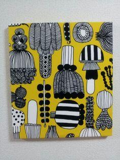 北欧 マリメッコファブリックパネルイエローmarimekko Scandinavian marimekko fabric ¥3000yen 〆04月07日