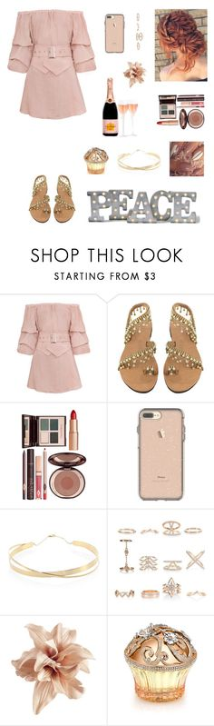 """""""Untitled #1301"""" by blerta-817 ❤ liked on Polyvore featuring Charlotte Tilbury, Lana Jewelry, New Look, H&M, House of Sillage and Grandin Road"""