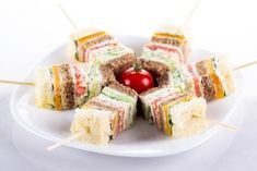 """10 The stunned canapes on New Year's table. Canapé - small sandwiches """"one bite"""" - a perfect . Snack Recipes, Cooking Recipes, Snacks, Dessert Salads, High Tea, Afternoon Tea, Kids Meals, Catering, Good Food"""
