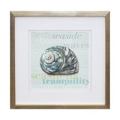 Art Innovations 18144CAP- LW29 Beach Collection I Framed Art