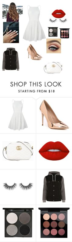 """SOFIA FIRST PARTY"" by reka15 on Polyvore featuring ALDO, Gucci, Lime Crime, Velour Lashes, River Island, Gorgeous Cosmetics and MAC Cosmetics"