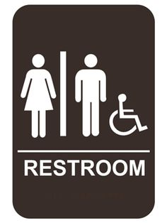 Stylish Restroom Signs ADA Braille - Wood Bathroom Signs ...