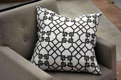Pelagos (Charcoal) | OrangePlush.com | Custom, Modern, and Designer Pillows as seen on HGTV Showhouse Showdown