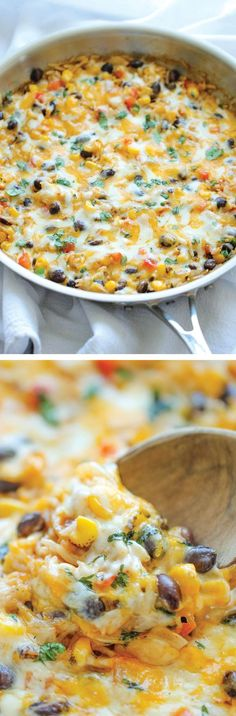 Cheesy Enchilada Rice Skillet