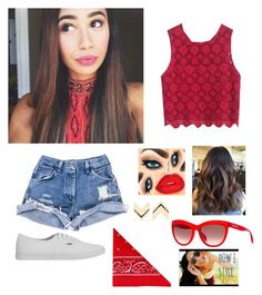 """""""Eva Gutowski ❤"""" by emmacouture2339 ❤ liked on Polyvore featuring Vans, Leslie Danzis, NLY Accessories and Alexander McQueen"""