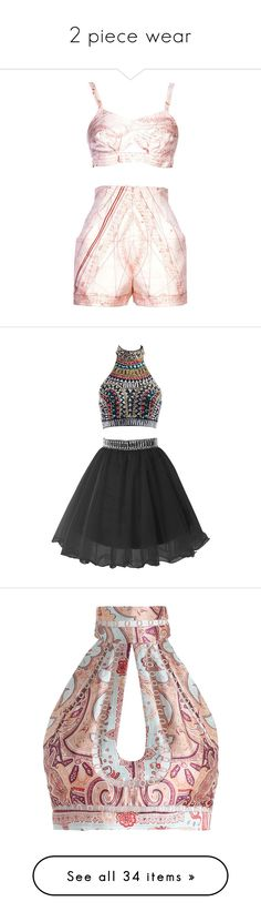 """""""2 piece wear"""" by divaangelique ❤ liked on Polyvore featuring dresses, shorts, beige, hermès, short graduation dresses, beaded prom dresses, short homecoming dresses, short evening dresses, beaded evening gowns and tops"""
