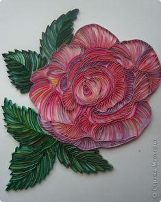 Картина, рисунок, панно Квиллинг: Учусь контурному квиллингу + процесс работы Бумажные полосы. Фото 1