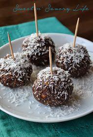 Sweet n' Savory Life: Healthy and Sweet Coconut Fudge Truffles {Paleo and Vegan}