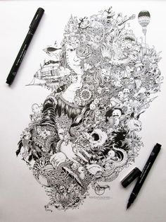 This Man Is Serious About Doodling. His Intricate Pen Drawings Will Blow You Away...