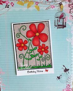 Have a sunny weekend! 🌞🌺💚 . . . #prismacolorspencils #cardsofinstagram #cardmakinghobby #instadraw #coloringtherapy #handmadecard… I Card, Card Making, Birthday, Color, Birthdays, Colour, Handmade Cards, Dirt Bike Birthday, Cards To Make