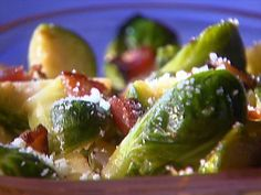 Balsamic-Roasted Brussels Sprouts Recipe : Ina Garten : Food Network