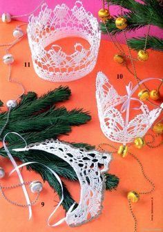 Короны крючком на Новый год для девочек                       &nb... - corona