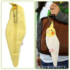 Soft and Downy Bird Stuffed Plush Type Pen-Pouch (Bird-Collection Series) (Cockatiel)
