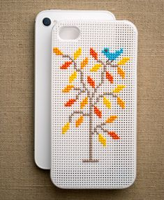 Cross-Stitch iPhone Case | 26 Tech DIY Projects For The Nerd In All OfUs