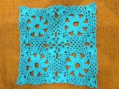 How To Crochet Granny Square And How To Attach Tutorial Pattern #11