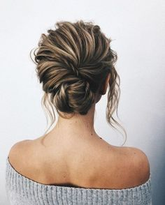 Lovely Whether a classic chignon, textured updo or a chic wedding updo with a beautiful details. These wedding updos are perfect for any bride looking for a unique wedding hairstyles… The post Whether a classic chignon, textured updo o . Wedding Hair And Makeup, Wedding Updo, Bridal Hair, Hair Makeup, Chic Wedding, Rustic Wedding, Trendy Wedding, Prom Hair Up, Wedding Ceremony
