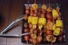 Shrimp boil kebabs- great idea!