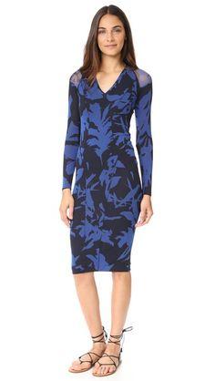 Fuzzi Blue Long Sleeve Dress