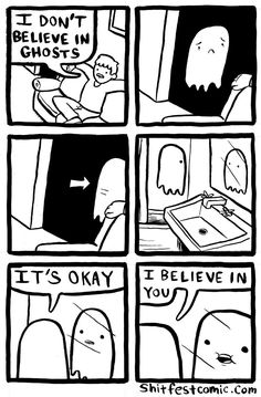 Funny pictures about Ghost Is Having A Hard Time. Oh, and cool pics about Ghost Is Having A Hard Time. Also, Ghost Is Having A Hard Time photos. Cute Comics, Funny Comics, Ghost Comic, 4 Panel Life, Vampire, Humor Grafico, Funny Pins, Funny Stuff, Just For Laughs