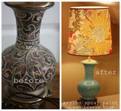 Vase turned lamp rescue