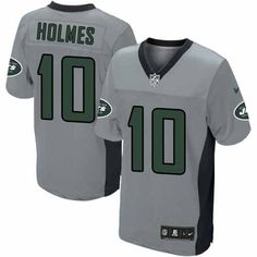 Elite Mens Nike New York Jets #10 Santonio Holmes Grey Shadow NFL Jersey$129.99