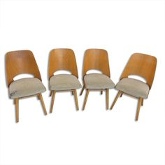 Set of 4 Ton Czechoslovakia dinner chairs, Dinner Chairs, 1960s, Dining, Furniture, Vintage, Home Decor, Dining Chairs, Food, Decoration Home