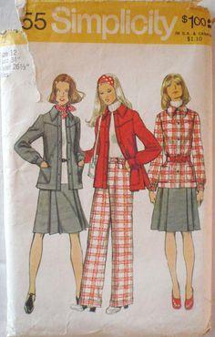 Women's 1970's Sewing Pattern  Unlined Shirt by Shelleyville, $8.00